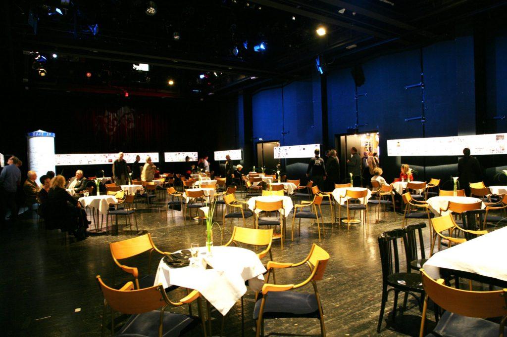 Kammerbühne Mieten Saal mit Tischbestuhlung