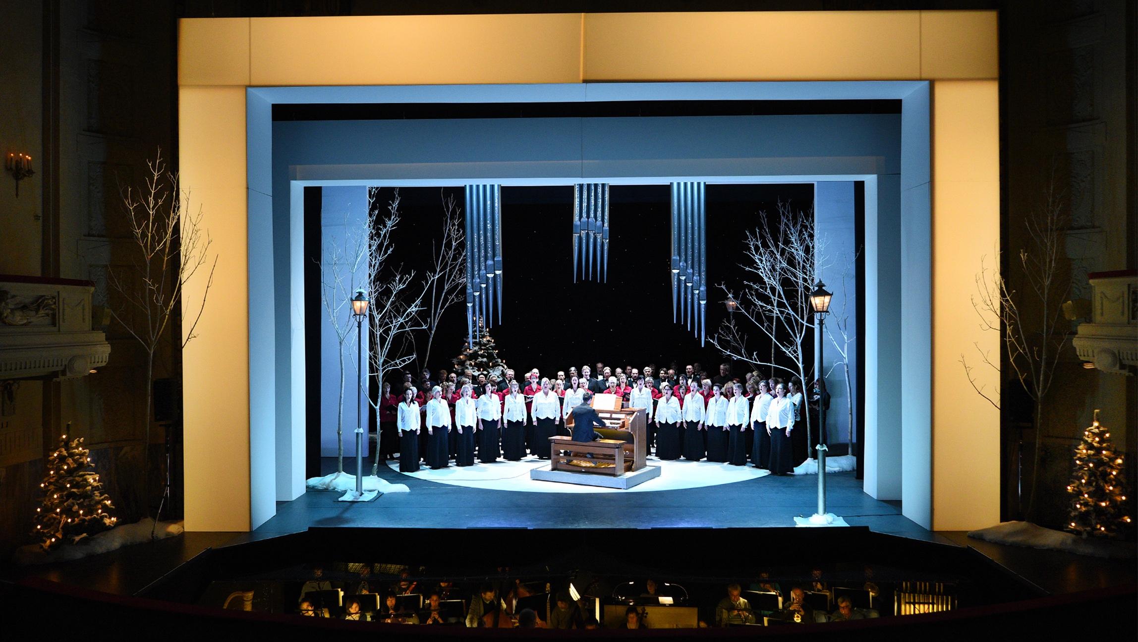 Opernchor in Winterzauber Querformat