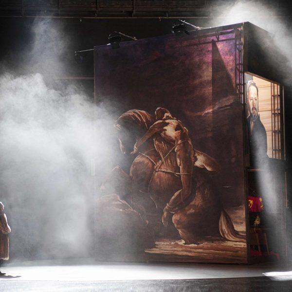 Staatstheater Cottbus MAZEPPA Oper in drei Akten von Pjotr I. Tschaikowski Szenenfoto mit Andreas Jäpel (Mazeppa) (Foto: Marlies Kross)